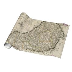 Vintage Map of Barbados (1736) Gift Wrapping Paper $16.95