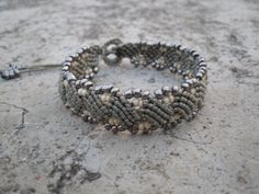 Free Shipping Handmade Beaded Macrame Bracelet by Serbiangirl