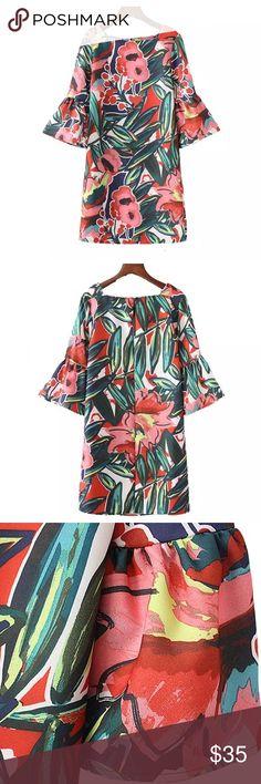 Floral Mini dress! Size L NEW NOTAGS! Floral Mini dress! Size L NEW NOTAGS! Waist 104com Bust 104cm Length 94cm Dresses Mini