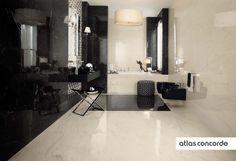#MARVELPRO cremo delicato & noir st laurent | #AtlasConcorde | #Tiles | #Ceramic |