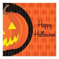 Happy Halloween Pumpkin Party Invitation - invitations custom unique diy personalize occasions
