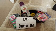 Ivf survival kit care package a sweet idea of course i say put ivf survival kit relaxing treatments stress ball pillow to scream in dartboard solutioingenieria Gallery