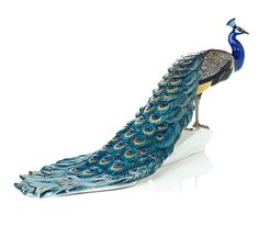 Nymphenburg Porcelain Peacock Hand-painted