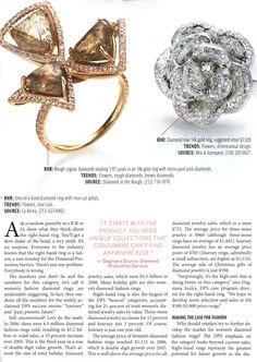 Modern Jeweler features this three macle champagne colored rough diamond cocktail ring.