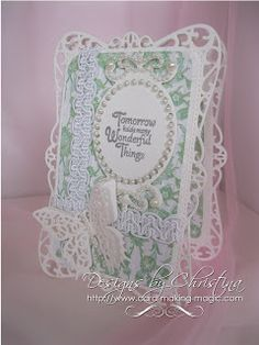 fancy hinged card by Christina Griffiths