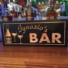 Wooden Carved Bar Signs Personalized Home Bar Signs Man Cave
