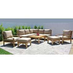 Willow Creek Designs Huntington 6 Piece Deep Seating Group with Cushion Fabric: Charcoal
