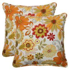 Outdoor 2-Piece Square Throw Pillow Set - Corona