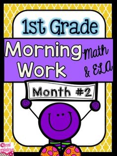 This is a morning work pack for first grade. It can be used for Morning Work, Daily Work, Homework, Review Work, and More! These activity sheets involve both literacy and math. They can be used as independent practice sheets for morning work, review work, homework, and more.This is month #2 out of 10 months of morning work.