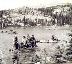 Boy Scout camp Steiner at Scout Lake, 1935. (Salt Lake Tribune Archives)