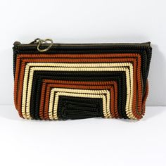 Telephone Cord Purse 40s Brown and Tan Telephone by Flourisheshome