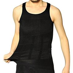 d239116226 Shop Flash Abdominal Supporting Compression Slimming Sleeveless Shirt for  Men Black XLarge     Find. Body Shaper ...