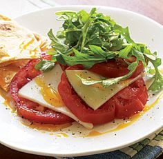 Tomato & drunken goat cheese salad.
