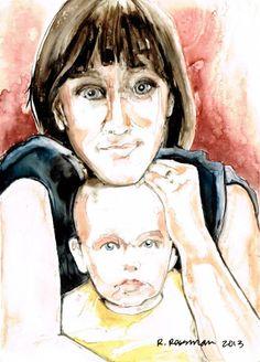 Rachael Rossman Art @Rachael Rossman  #YUPO #ART #RACHAELROSSMAN #WATERCOLOR