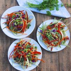 Rainbow Pad Thai with Brown Rice Ramen noodles