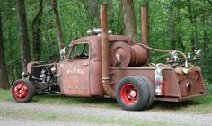 Rat rod fire truck. Someone's gotta put out the burnout fires