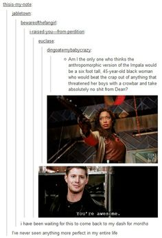 Funny Things, Random Things, Supernatural Tv Show, Inspiring Pictures, Fandom Crossover, Funny Tumblr Posts, Fun Comics, Destiel, Best Tv Shows