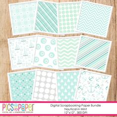 Nautical Paper in Mint