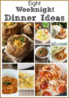 Eight Weeknight Dinner Ideas - Easy Meal Ideas to Make after a Long Day at Work - virginiasweetpea