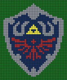 Link's Shield Alpha Friendship Bracelet Pattern #19619 - BraceletBook.com