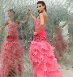 Winter Girls/Ladies Luxury Gorgeous Amazing Expensive Beautiful Pink A Line/Princess Organza Sweetheart High Low Prom Dresses/Party Dresses With Beaded