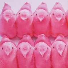 Eight Peeps painting by artist Oriana Kacicek