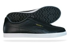 Puma Roma LP Mens Leather sneakers   Shoes - Black Sneaks Up eb9fb4ea7