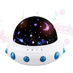 LED Star Light Projector  Soft Piano Music Baby Nursery Night Light Relaxing Sleep Aid Lamp Best Christmas Gift for Kids Children By Wedna * More info could be found at the image url.-It is an affiliate link to Amazon. #SeasonalDecor