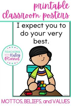 I believe our students need to know exactly what we expect of them and also how we feel about them! These posters are perfect to introduce in classroom meetings and discuss. Once you have discussed them, they make adorable decor that will always remind your students about the culture of your classroom! They are perfect for promoting a growth mindset, accountable talk, and relationships in the classroom. You'll find each poster in colored clipart, black and white clipart, and stock photos.