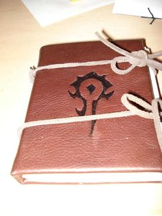 World of Warcraft Horde leather journal  - via Craftster