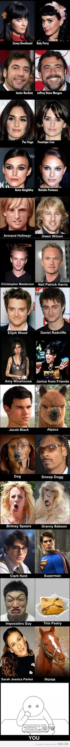 Creepy or Cool look-a-likes?  Sometimes it doesn't matter cos its funny.