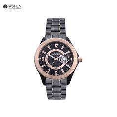 Aspen AM0006 Wrist Watch FOR MEN IN TWO Tone Metal Strap.