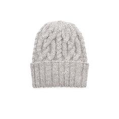 e127ae9f5e0ea Eugenia Kim - JILL Light gray baby alpaca hand-knit cabled beanie Ski  Fashion