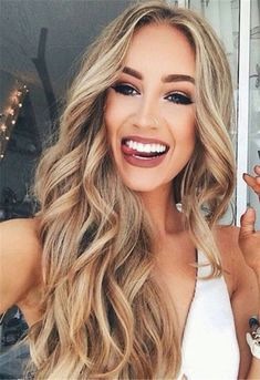 Sexy Long Wavy Middle Part Lace Front Human Hair Wigs 24 Inches- wavy hairstyles blonde wavy hairstyles ponytail Frontal Hairstyles, Wig Hairstyles, Long Wavy Hairstyles, Highlighted Hairstyles, Woman Hairstyles, Casual Hairstyles, Latest Hairstyles, Wedding Hairstyles, Hair Day