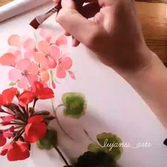 Acrylic Painting Ideas For Beginners Watercolor Flowers Tutorial, Acrylic Painting Flowers, Watercolour Tutorials, Floral Watercolor, Watercolor Trees, Watercolor Artists, Watercolor Portraits, Painting Tutorials, Watercolor Landscape