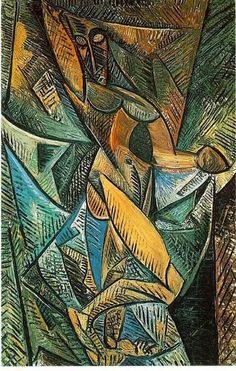 Pablo Picasso, La danse au voiles (Nu à la draperie), 1907, found at picasso-paintings.com