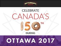 What are you doing to celebrate and Ottawa Why not celebrate with Ottawa's - and dare we say - Canada's favourite bagel? Breakfast Catering, Lunch Catering, Ottawa 2017, Ottawa Food, Canada 150, Bagels, Lunches And Dinners, Ontario, Foodies