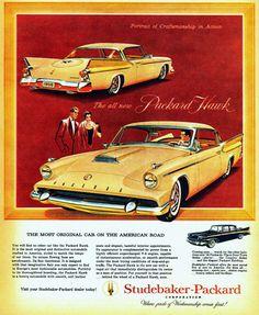 Studebaker-Packard Hawk 1958 - Mad Men Art: The 1891-1970 Vintage Advertisement…
