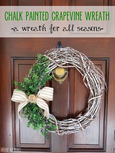 Average But Inspired shows you how to make a chalk painted grapevine wreath in this easy tutorial!