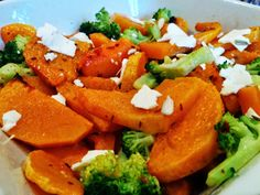 James Duigan's Clean & Lean roasted butternut squash and broccoli.