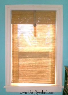 """{DIY Beach Mat Blinds!} I want to suggest if you want to """"raise"""" them at times, add a tension rod at the level you want and fold the bottom over the rod then """"fluff"""" up from the bottom adding a fold over, Roman shade look!"""