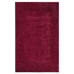 Cyrus Burgundy (Red) 5 ft. 3 in. x 8 ft. 3 in. Area Rug