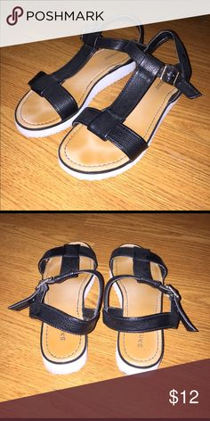 Strappy Platform Sandals Barely worn, very comfortable and good material Shoes Sandals