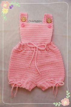 All items by CrochetYouARiver crochet rompers for babies - Resultados da busca Yahoo Search Cutencuddlyoutfits is proud to present a stunningly beautiful baby girl dress that will leave you mesmerised. This Pin was discovered by Peg Discover thousands of Crochet Onesie, Crochet Baby Dress Pattern, Baby Girl Crochet, Crochet Baby Clothes, Newborn Crochet, Crochet For Kids, Knit Crochet, Baby Girl Patterns, Baby Knitting Patterns