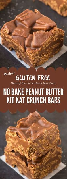 Healthy No Bake Peanut Butter Kit Kat Crunch Bars Gluten free - Yumfoodietum ! Healthy No Bake Peanut Butter Kit Kat Crunch Bars Gluten free - Yumfoodietum ! Gluten Free Deserts, Gluten Free Sweets, Dairy Free Recipes, Gluten Free Xmas Baking, Chocolate Gluten Free Desserts, Gluten Free No Bake Cookies, Gluten Free Christmas Recipes, Gluten Free Christmas Cookies, Gluten Free Bars
