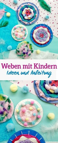 Weben mit Kindern -Einfache DIY Idee mit Anleitung Weaving with children -Easy DIY idea with instructions – Here I show … Diy Gifts For Friends, Diy Gifts For Kids, Easy Diy Gifts, Simple Gifts, Cute Gifts, Easy Crafts, Diy And Crafts, Crafts For Kids, Paper Crafts