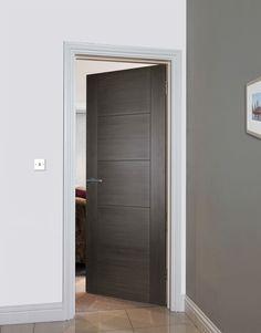 ISEO K4500 GREY COTO - modern doors for contemporary homes. Modern Entrance Door, Modern Door, Double Door Design, Front Door Design, Modern Staircase, Staircase Design, Simple Modern Interior, Door Design Interior, Interior Doors