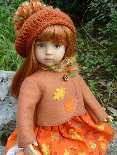 Autumn dress for dollie - Fall dress American Doll Clothes, Ag Doll Clothes, Og Dolls, Girl Dolls, Diana, American Girls, 18 Inch Doll, Little Darlings, Big Eyes