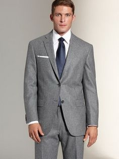 Brooks Brothers 2012 Single Breast Grey Pinstripe...HOT SUIT!!!