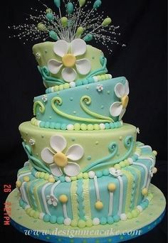 Topsy Turvy Cake. Such a fun looking cake. Happy Birthday!